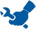 Ikona przedstawiająca naprawę i usuwanie awarii skrzyni